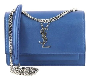Saint Laurent Chainwallet Leather Leather Cross Body Bag
