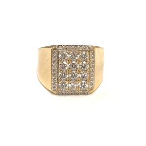 Other (989) 14K Yellow Gold CZ Men Ring