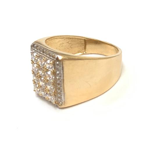 Other (989) 14K Yellow Gold CZ Men Ring Image 1