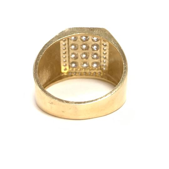 Other (989) 14K Yellow Gold CZ Men Ring Image 2