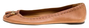 Gucci Leather Detail Ballet Brown Flats