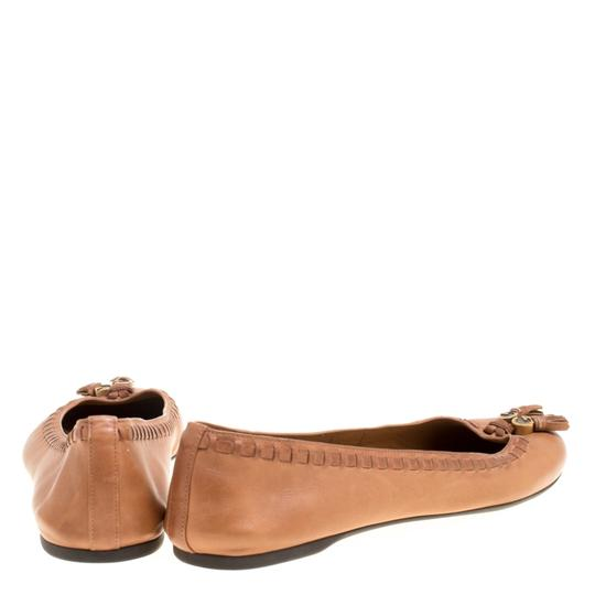 Gucci Leather Detail Ballet Brown Flats Image 4