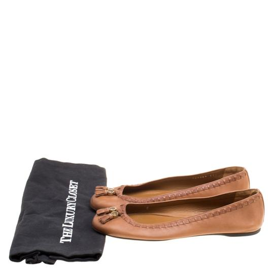 Gucci Leather Detail Ballet Brown Flats Image 7