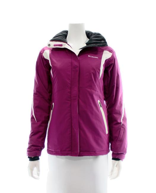Item - Fuschia Pink and White Ski Jacket Small Activewear Size 4 (S)