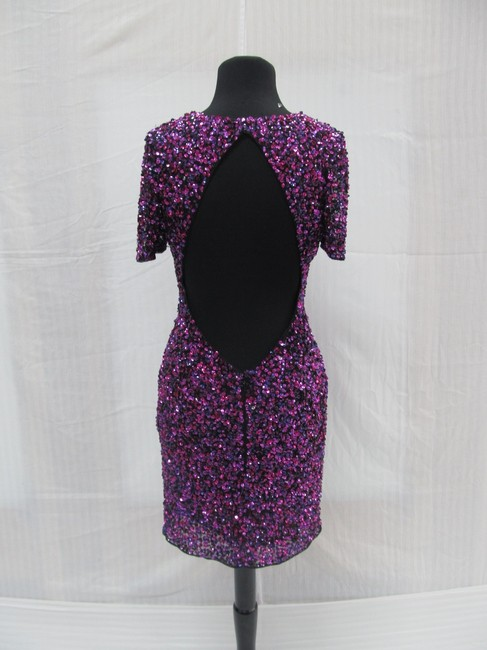 Precious Formals Short Prom Homecoming Sequins Dress Image 1