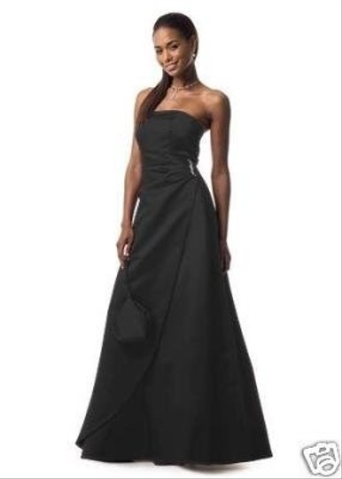 Preload https://img-static.tradesy.com/item/25489257/david-s-bridal-black-satin-gown-formal-bridesmaidmob-dress-size-12-l-0-1-540-540.jpg