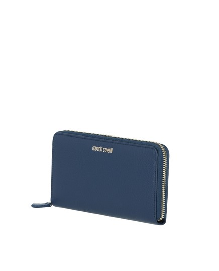 Roberto Cavalli GSA012PZ03003022 CONTINENTAL WALLET IN BLUE 100% LEATHER Image 3