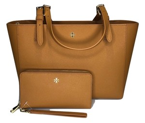 Tory Burch Shopper Purse Leather Matching Set Tote in Cardamom