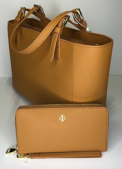 Tory Burch Shopper Purse Leather Matching Set Tote in Cardamom Image 3