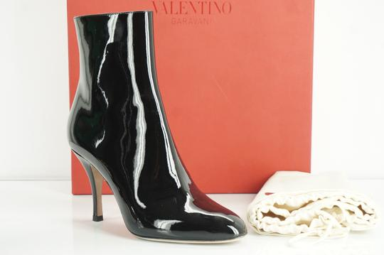 Valentino Zip Pointed Toe Black Boots Image 11