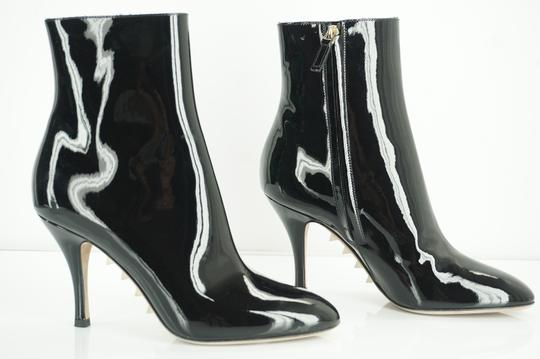Valentino Zip Pointed Toe Black Boots Image 3