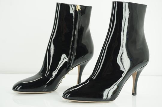 Valentino Zip Pointed Toe Black Boots Image 4