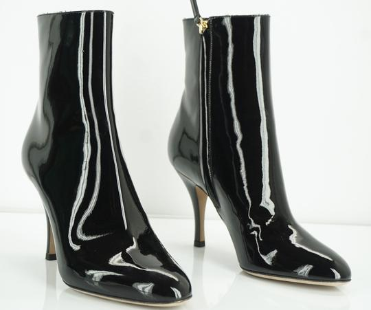 Valentino Zip Pointed Toe Black Boots Image 5
