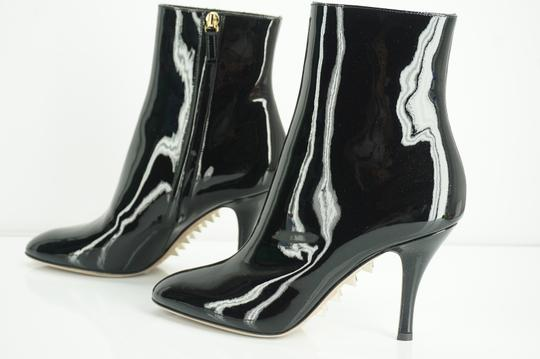 Valentino Zip Pointed Toe Black Boots Image 6