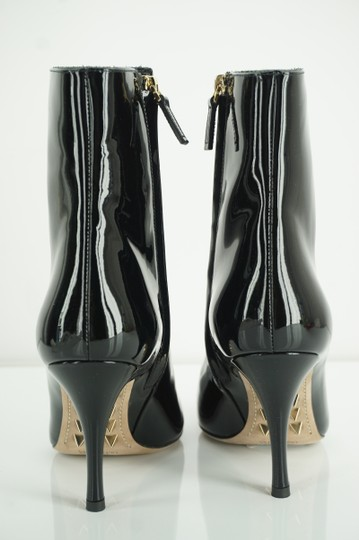 Valentino Zip Pointed Toe Black Boots Image 9