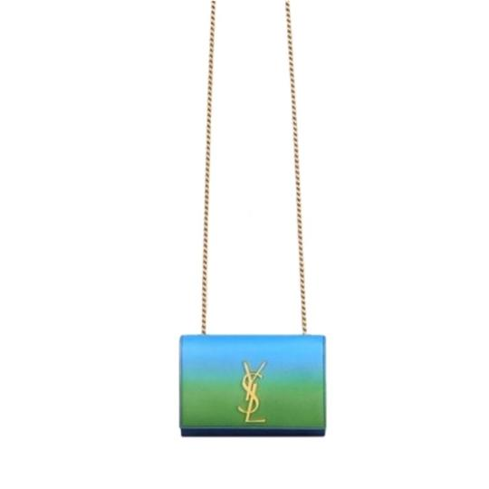 Preload https://img-static.tradesy.com/item/25489343/saint-laurent-monogram-kate-small-blue-and-green-calfskin-leather-cross-body-bag-0-0-540-540.jpg