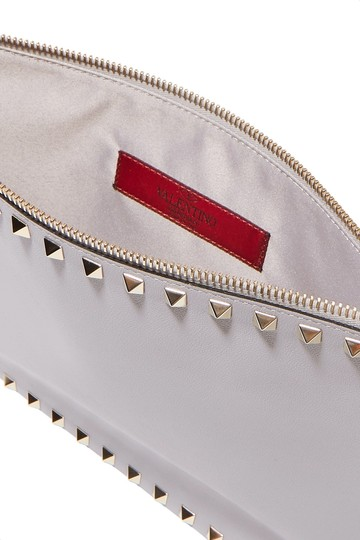 Valentino Pouch New Studded light gray Clutch Image 1