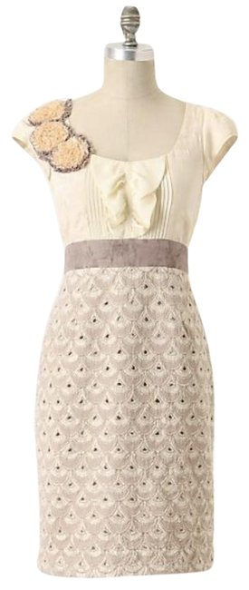 Item - Taupe/Cream Floreat Babergh Short Night Out Dress Size 6 (S)