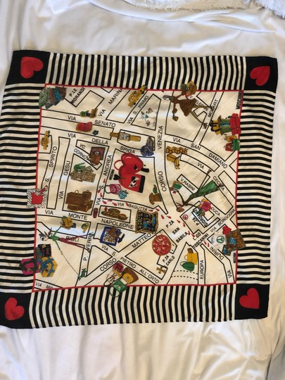 Moschino This is a 1990s vintage scarf from Moschino featuring a map of Milan Image 1