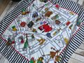 Moschino This is a 1990s vintage scarf from Moschino featuring a map of Milan Image 10