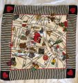Moschino This is a 1990s vintage scarf from Moschino featuring a map of Milan Image 4