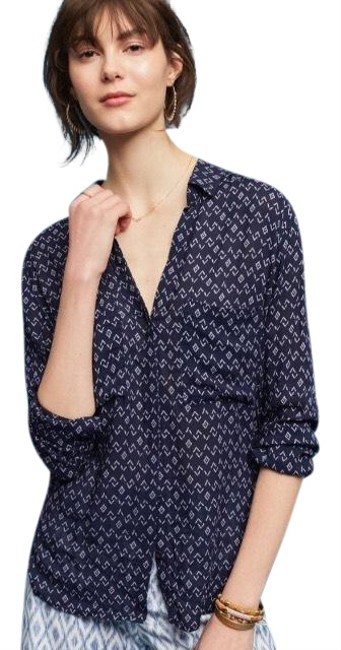 Preload https://img-static.tradesy.com/item/25489435/anthropologie-blue-blake-by-cloth-and-stone-button-down-top-size-8-m-0-1-650-650.jpg