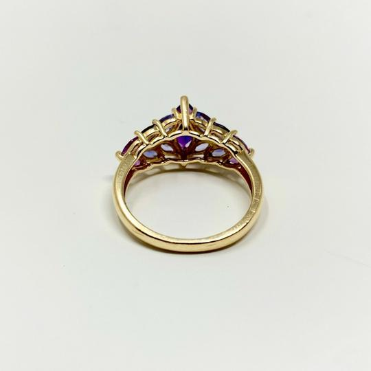 Other 14k Yellow Gold Marquise Cut Amethyst and Iolite Ring Size 8 Image 1