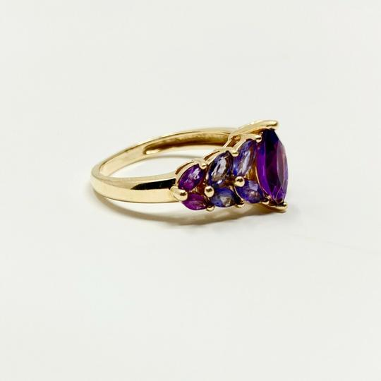 Other 14k Yellow Gold Marquise Cut Amethyst and Iolite Ring Size 8 Image 2