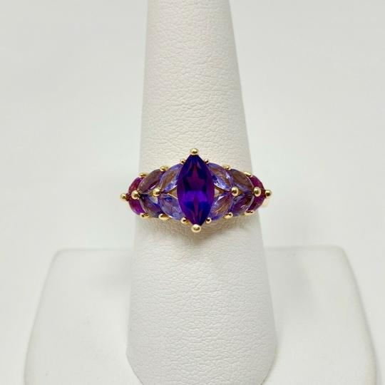 Other 14k Yellow Gold Marquise Cut Amethyst and Iolite Ring Size 8 Image 3