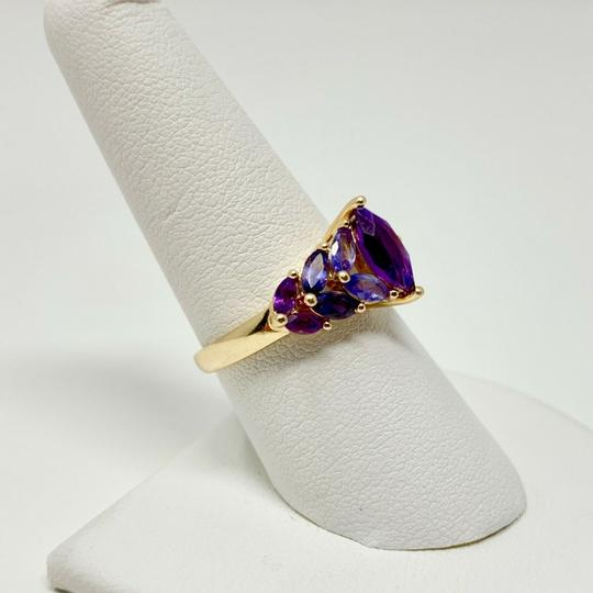 Other 14k Yellow Gold Marquise Cut Amethyst and Iolite Ring Size 8 Image 4