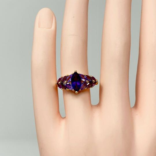 Other 14k Yellow Gold Marquise Cut Amethyst and Iolite Ring Size 8 Image 5