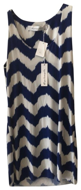 Item - Cobalt Blue and White Tank Short Casual Dress Size 4 (S)