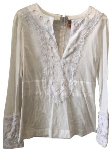 5a672bc20f4b82 White Tory Burch Blouses - Up to 70% off a Tradesy