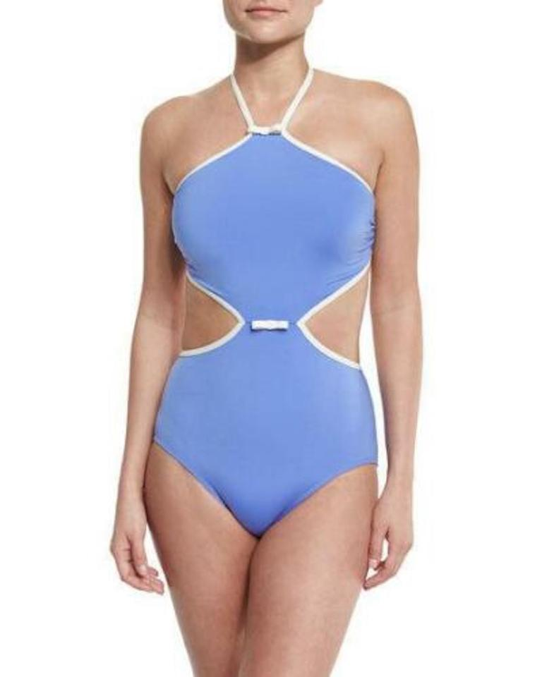 4c115d54f8 Kate Spade Blue Cut Out One-piece Bathing Suit Size 8 (M) - Tradesy