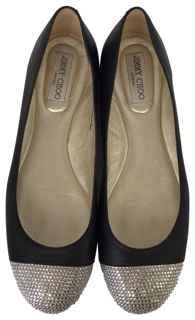 Jimmy Choo Black Leather Ballet Flats Size US 11 Regular (M, B) Jimmy Choo Black Leather Ballet Flats Size US 11 Regular (M, B) Image 1