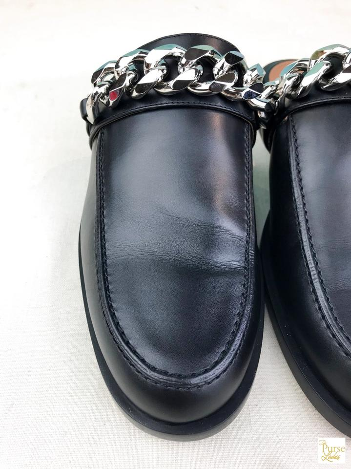 48915bf9f Givenchy Black Leather Chain Slip On Women's Sale Mules/Slides Size EU 39.5  (Approx. US 9.5) Regular (M, B) - Tradesy