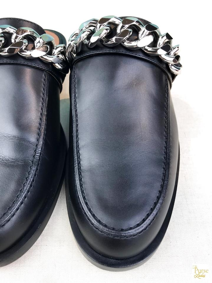150aa753d Givenchy Black Leather Chain Slip On Women's Sale Mules/Slides Size ...