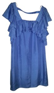 Ali Ro Silk Ruffle Dress