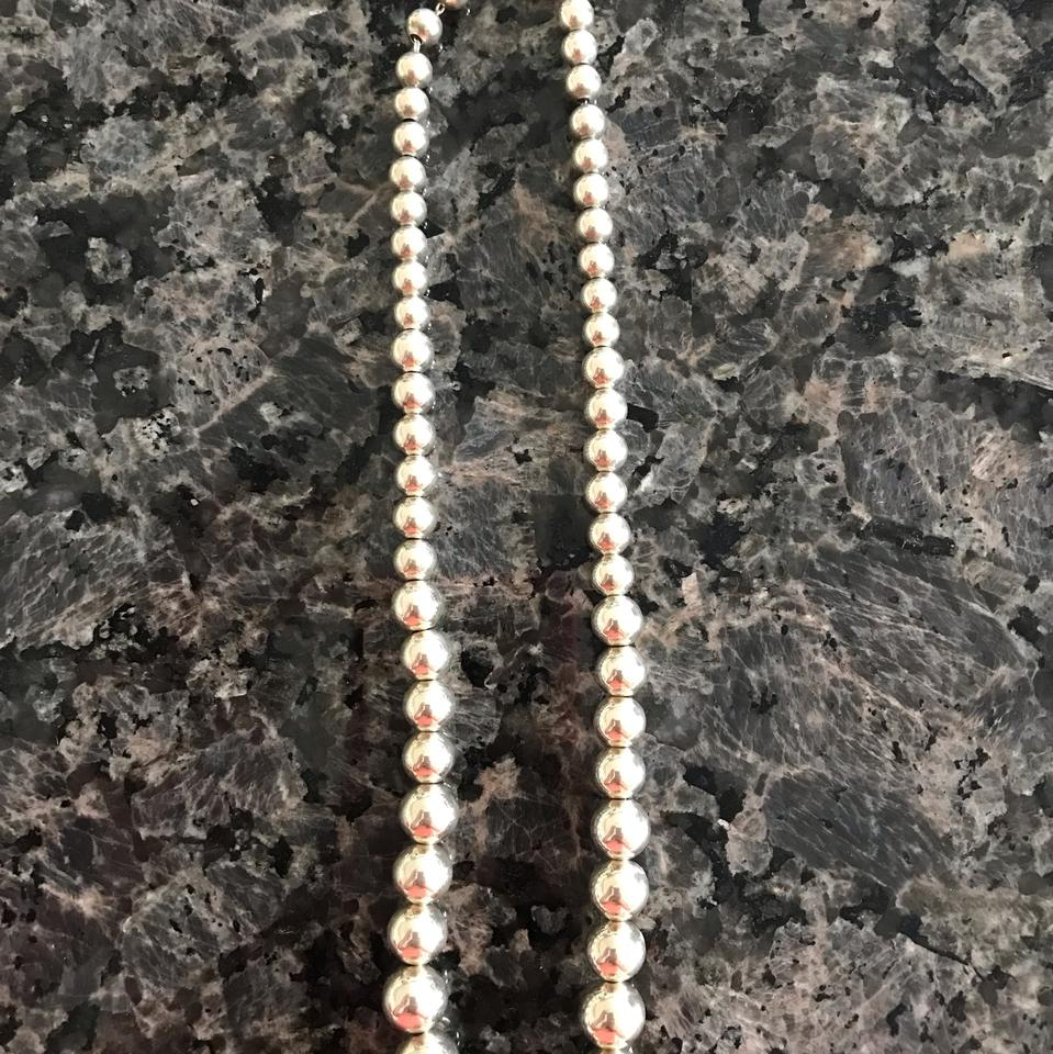 457c32d7d Tiffany & Co. Sterling Silver Graduated Bead Necklace - Tradesy