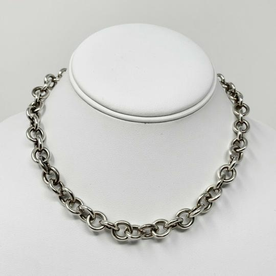 Tiffany & Co. Tiffany & Co. Silver 925 Toggle Link Necklace with Pouch 16 Inches Image 1