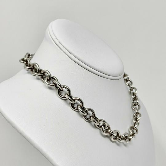 Tiffany & Co. Tiffany & Co. Silver 925 Toggle Link Necklace with Pouch 16 Inches Image 2