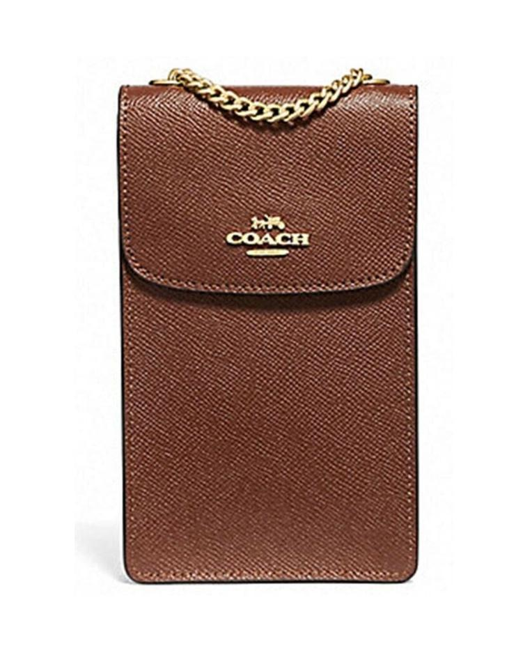 f710272bc9 Coach North South Phone Sanddle Cross Body Bag