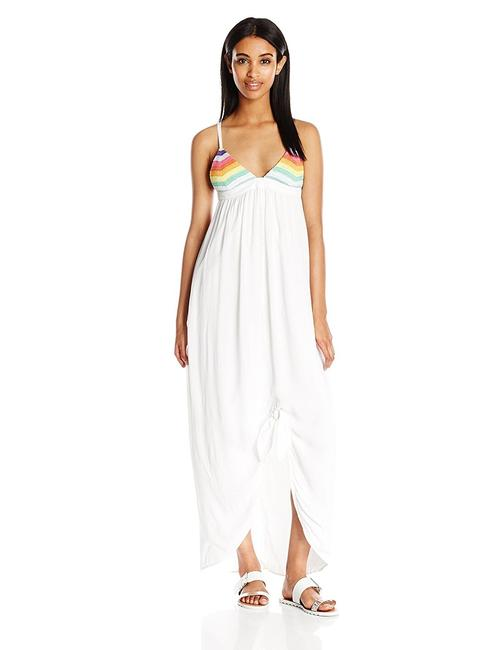 Item - White Multi Prismatic Tie Knot Maxi Dress Cover-up/Sarong Size 12 (L)