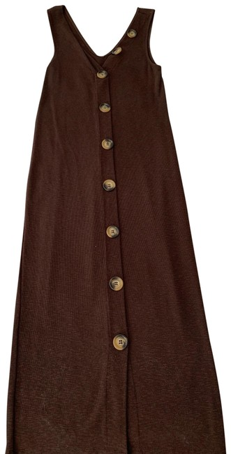 Item - Brown Button Mid-length Night Out Dress Size 0 (XS)