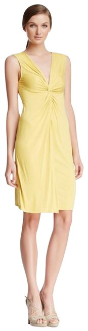 Item - Yellow Karen Twisted M Mid-length Night Out Dress Size 8 (M)
