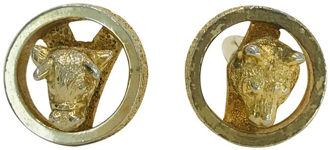 Item - Gold Vintage Christian Plated Cuff Links Charm