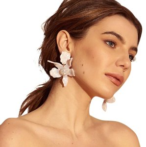 Lele Sadoughi BRAND NEW Lele Sadoughi IVORY Crystal Lily Flower Earrings
