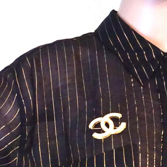 Chanel Timeless CC Smoked Crystals gold hardware brooch pin charm Image 1