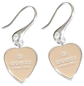abf3db09577219 Gucci Brand new Gucci trademark heart Drop sterling silver earrings