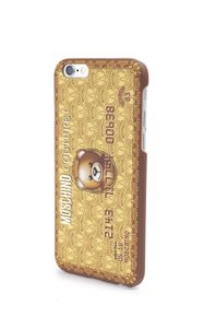 Moschino Jeremy Scott Gold Bear Credit Card iPhone 6 Plus/6S Plus Case